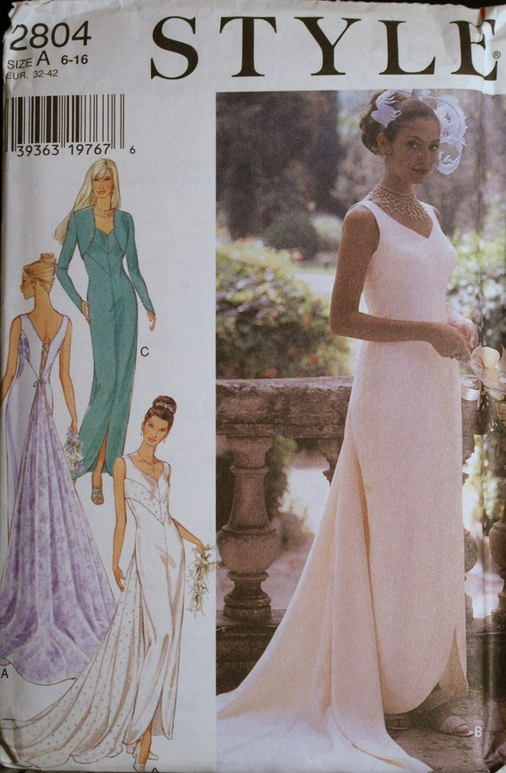 Sewing Pattern Evening Gown or Special Occasion Dress Pattern Style 2804
