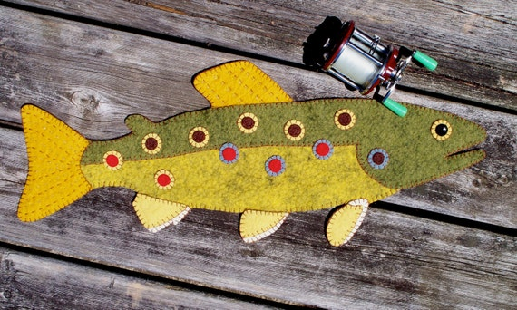 A Brown Trout Penny Rug