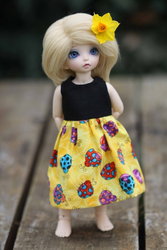CLEARANCE Bella Brights Ladybug - 1/6 yosd, littlefee dress