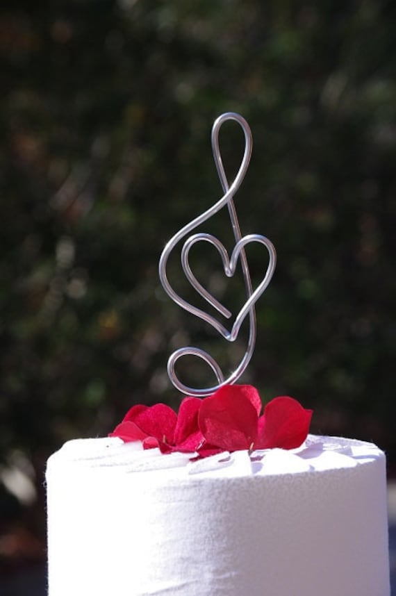 Treble Clef Music Note Cake Topper