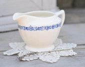 Ivory Creamer with Blue Transfer