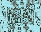 ACEO- Pitbull of Clubs limited edition print