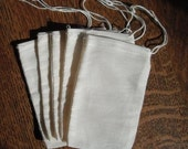 MUSLIN Drawstring BAGS 50  3 x 5 Cotton  Natural  Drawstring gift Bags stamping, gift, Sachets, Potpourri, Crafts, Packaging, wedding, party