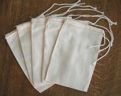 4 x 6 Muslin Bags 20 Cotton Drawstring Bags for sachets, potpourri, wedding bags shower, favor bags  stamping, packaging, gift bags, craft