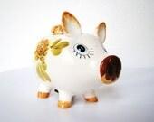 What an oinker .... Vintage ceramic piggy bank