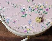 ETHEL vintage suitcase, vintage wallpaper and hand-dyed fabric