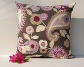 Retro Flower Paisley Print Pillow Cover 20 x 20 - Designer Home Decor Fabric-Throw Pillow-Lumbar Pillow-Couch Pillow-Living Room