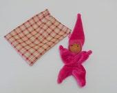 August, Waldorf Inspired Pixie Baby / Fuchsia Pink