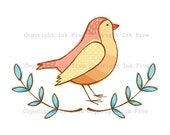 Doodle Spring Birds clip art. Cute spring clipart images for digital scrapbooking, invitations, cards.