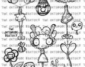INSTANT DOWNLOAD Easter and Spring set of 12 Digital Stamp images