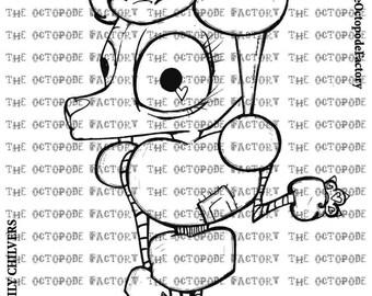 INSTANT DOWNLOAD French Poodle Digital Stamp Image