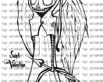 INSTANT DOWNLOAD Valentines Saint Valentine digital stamp