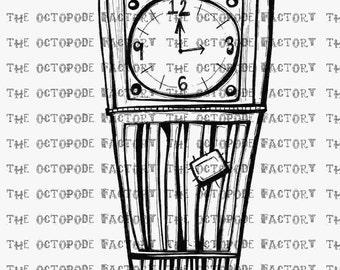 INSTANT DOWNLOAD Whimsical Big Ben Digital Stamp
