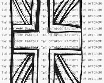 INSTANT DOWNLOAD Jack Flag Digital Stamp