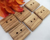 wooden buttons,  Handmade, wood buttons,  ZEBRA WOOD  set of 6 buttons