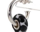 Sterling Silver Interchangeable Hoop Earrings-fit European Charm Beads X0105
