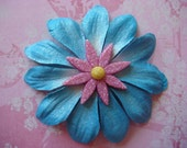 Flower Hair Clip - Blue