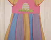 Size 7  Easter Upcycled Dress by OneUPaKind