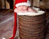 CHRISTMAS SANTA STOCKING Cap Elf Hat Baby Newborn 0 3 6 12 Months 1T 2T 3T 4T Child Teen Adult