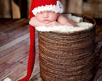 CHRISTMAS SANTA STOCKING Cap Elf Hat Baby Newborn 0 3 6 12 Months 1T 2T 3T 4T Child Teen Adult