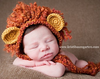 LION MANE Crochet Hat Photo Prop Baby Newborn 0 3 6 12 Months 1T 2T 3T 4T Child Teen Adult