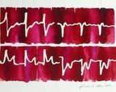 Heart Attack 8 - original watercolor painting