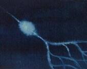 Indigo Neuron 2 - original watercolor