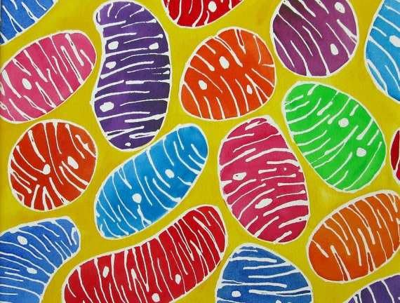 Mitochondria - original watercolor painting