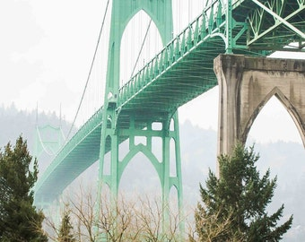 Steinman's Baby - St John's Bridge Portland, Oregon Photographic Print