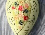 Vintage Floral Carved Celluloid Dress Clip
