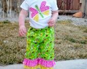 Ruffle Pants Set - Toddler Baby Girl Clothes -  Girl Bugs