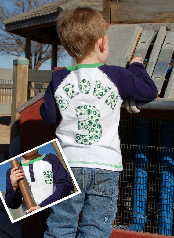 5T Personalized Baseball Birthday Shirt - long,  3/4, or short sleeve - size 5T