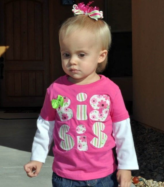 Big Sister Shirt Pink - Size 5/6 - Only 1 Left