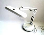 Vintage Industrial Lamp Portable White SALE