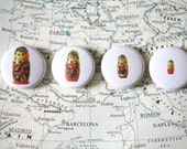 Nesting Doll 4 Pack of One Inch Buttons