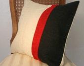 Burlap pillow case in three colors 18x18