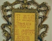 I am just a coward custom embroidery