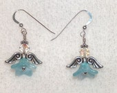 Guardian Angels - baby blue -  sterling silver