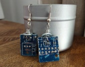 Computer Chip Earrings