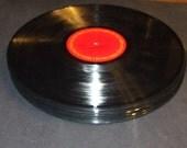 5  Vintage Vinyl 12 inch Records Lps Album for Crafts Decoration  Bowls