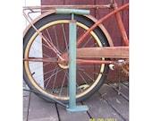 Blue and Red Bicycle Tire Pump - Rustic - Vintage - Display