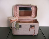 Vintage Gray Towncraft Train Case - For your travels (or) great storage for crafts or cosmetics