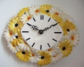 Vintage Electric Daisy Wall Clock