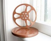 Vintage Film Reel and Canister - Copper Color from Goldberg Bros. Denver, Colorado