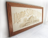 Vintage Home Sweet Home Needlepoint