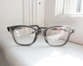 Vintage American Optical Flexi - Fit Grey Safety Glasses