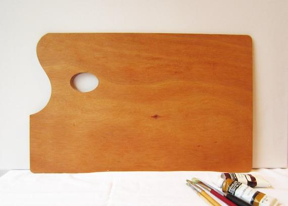 Large Unused Vintage Rectangle Wooden Artist Palette