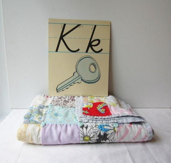 Vintage 'K' Classroom Poster / Flashcard - Very Sweet for Nursery Wall Art