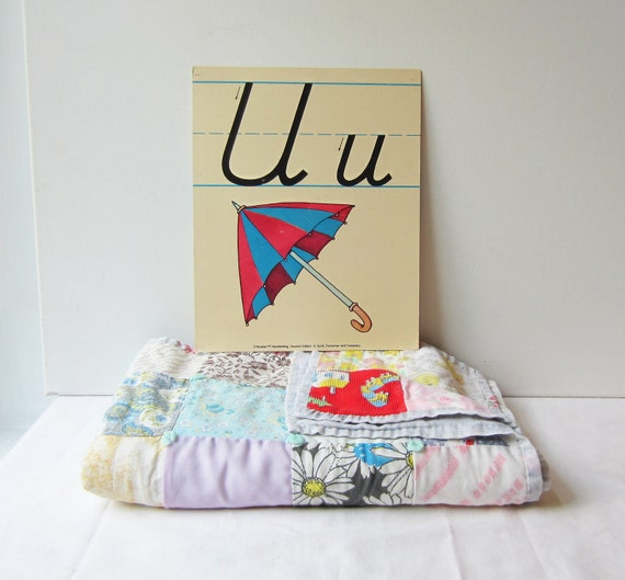 Vintage 'U' Classroom Poster / Flashcard - Very Sweet for Nursery Wall Art