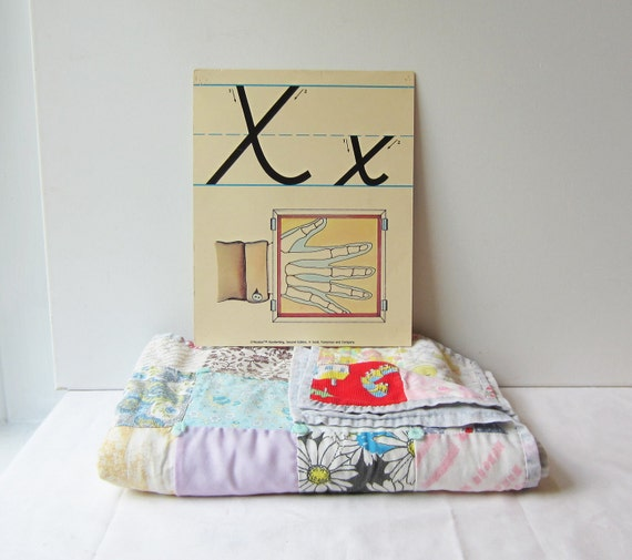 Vintage 'X' Classroom Poster / Flashcard - Very Sweet for Nursery Wall Art
